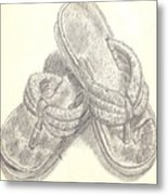 My Favorite Sandals Metal Print