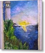 My First Light House Metal Print