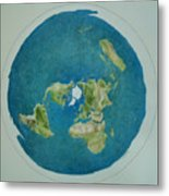 My Flat Earth Metal Print