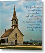 My God My Strength My Salvation Metal Print