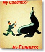 My Goodness My Guinness 1 Metal Print