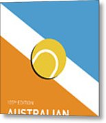 My Grand Slam 01 Australian Open 2017 Minimal Poster Metal Print
