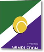 My Grand Slam 03 Wimbeldon Open 2017 Minimal Poster Metal Print
