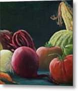 My Harvest Vegetables Metal Print