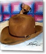 My Hat Metal Print