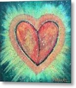 My Heart Loves You Metal Print