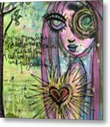 My Heart Sings Like This Little Bird Metal Print