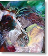 My Horse Friend Metal Print