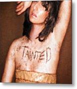 My Invisible Tattoos - Self Portrait Metal Print by Jaeda DeWalt