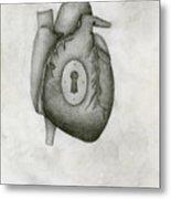My Locked Heart Metal Print