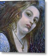 My Mermaid Christan Metal Print