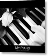 My Piano Bw Fine Art Photography Print Metal Print