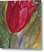 My Red Tulip Metal Print