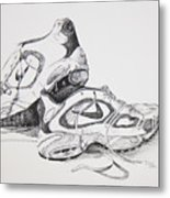 My Running Shoes Metal Print