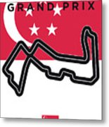 My Singapore Grand Prix Minimal Poster Metal Print
