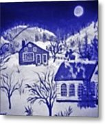 My Take On Grandma Moses Art Metal Print