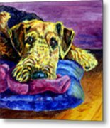 My Teddy Airedale Terrier Metal Print by Lyn Cook