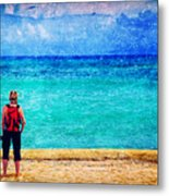 My Thoughts Are Like Sea Waves Metal Print