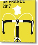 My Tour De France Minimal Poster 2017 Metal Print