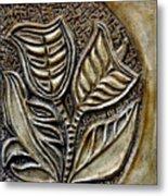 Vintaje Tile With Calas  Metal Print