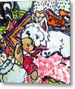 My Westie Milly And Her Toys Metal Print