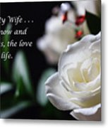 For My Wife - Expressions Of Love Metal Print