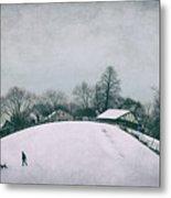 My Wintry Homey Snowy Planet Metal Print