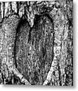 My Wood Heart  Metal Print