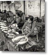 Myanmar Market Metal Print