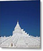 Myanmar. Mingun. The Hsinbyume Pagoda. Metal Print