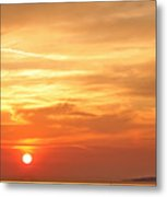 Mykonos Sunset Metal Print