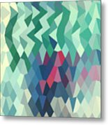 Myrtle Green Abstract Low Polygon Background Metal Print