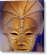 Mysterious Ancient  Asian Mask Metal Print