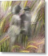 Mysterious Couple Metal Print