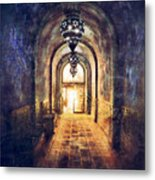 Mysterious Hallway Metal Print