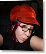 Mysterious Stare Metal Print