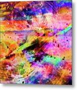 Mysterious Sunset Debris Metal Print