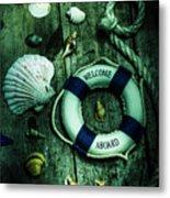 Mystery Aboard The Sunken Cruise Line Metal Print