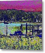 Mystery Bay At Sunset Metal Print