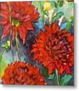 Mystery Day Dahlias Metal Print
