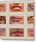 Mystery Mouths Of The Action Genre Metal Print by Mitch Frey