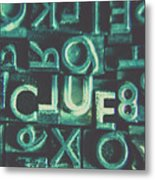 Mystery Writer Clue Metal Print