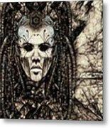 Mystic Future And Past - Ion Prophecies - Monotone  Metal Print