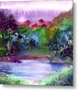 Mystic Lake Metal Print