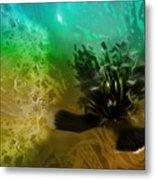 Mystic Poppy Yellow Green  Metal Print