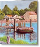 Mystic River View Metal Print