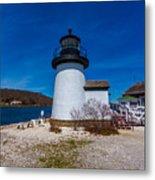 Mystic Seaport Lighthouse Metal Print