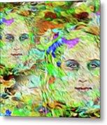 Mystical Eyes Metal Print