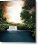 Mystical Falls Metal Print