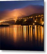 Mystical Golden Gate Bridge Metal Print